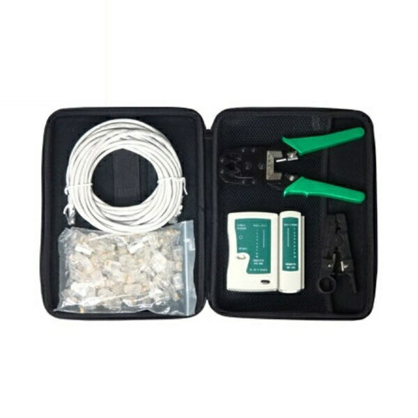 【送料無料】LANケーブル圧着工具セット CAT5用 変換名人 収納バッグ付 LANSET/3 工具セット LAN 工事 加工 制作 キット セット