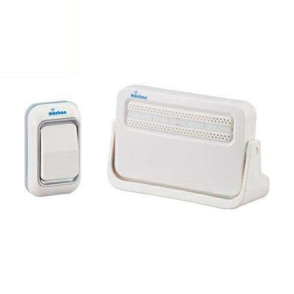 【送料無料】OHM ワイヤレスチャイムセット 押しボタン送信機+電池式受信機 monban 08-0513 OCH-M210 ドア 介護・玄関の呼び出し・受付や店内の呼び出しに 玄関 無線 チャイム 無線