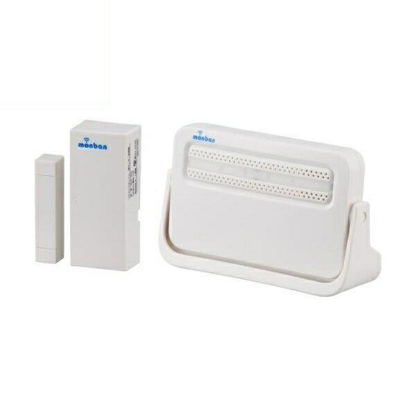 【送料無料】OHM ワイヤレスチャイムセット 扉開閉センサー送信機+電池式受信機 monban 08-0518 OCH-M230 ドア 介護・玄関の呼び出し・受付や店内の呼び出しに 玄関 無線 チャイム 無線