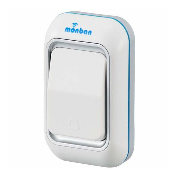 OHM ワイヤレスチャイム 押しボタン送信機 monban 08-0515 OCH-M40 ドア 介護・玄関の呼び出し・受付や店内の呼び出しに 玄関 無線 チャイム 無線