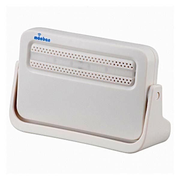 OHM ワイヤレスチャイム 電池式受信機 monban 08-0514 OCH-M80 ドア 介護・玄関の呼び出し・受付や店内の呼び出しに 玄関 無線 チャイム 無線