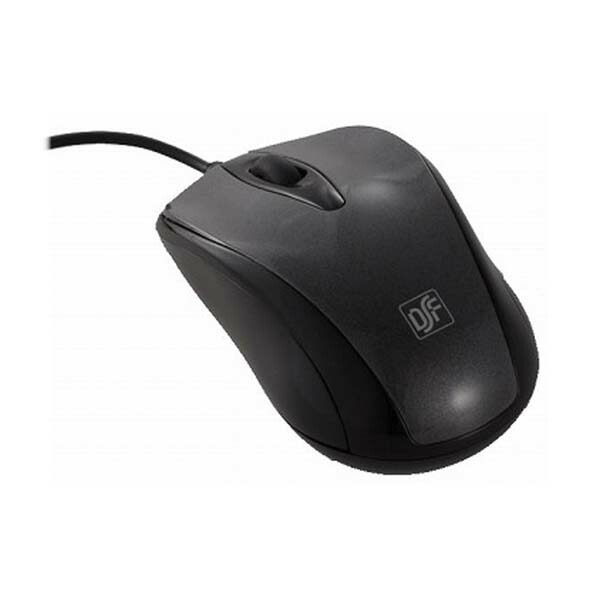 OHM 快適グリップ 光学式マウス Mサイズ ブラック PC-SMO1M-K