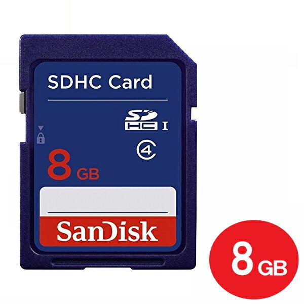 【ポイント5倍】【ネコポス送料無料】サンディスク SDHCカード 8GB Class4 SDSDB-008G-B35