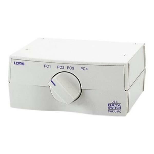 ロアス USB切替器 USB機器1台-PC4台 SWK-U4PC