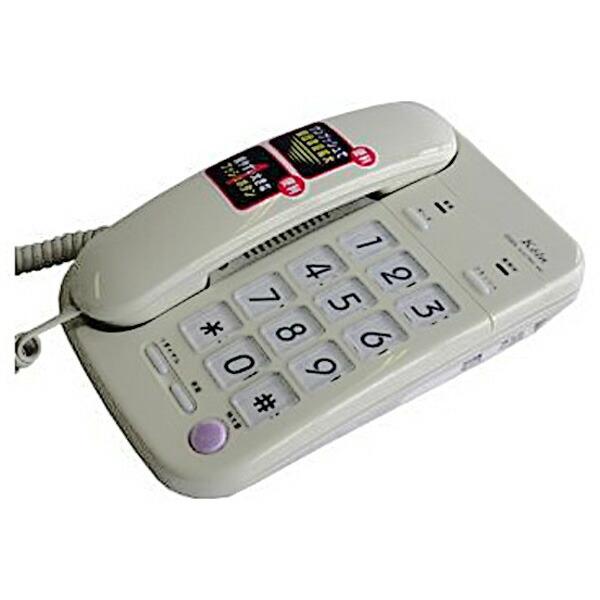 【送料無料】OHM インテリアテレホン コロン 05-3500 TEL-3500 有線 電話機 壁掛け対応