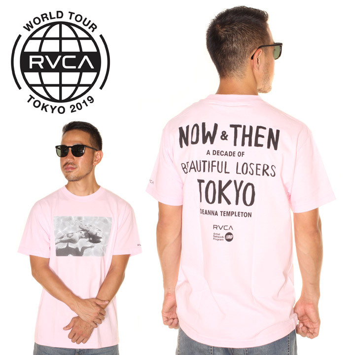 RVCA ルーカ Tシャツ メンズ DIENNA BL TOKYO 2019春夏 ピンク S/M/L