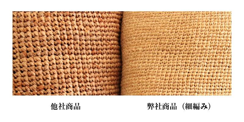 田中帽子店 uk-h092 Sally サリー ラフィア つば広レース付 キャペリン 57.5cm ラフィアの編み方は、細編みと太編みがあります。通常、太編みは1日足らずで完成しますが、細編みは職人が2〜3日かけて丁寧に仕上げていきます。 田中帽子店では細編みを採用しているので、繊細で美しい仕上がりなのはもちろん、かぶり心地感も抜群です。