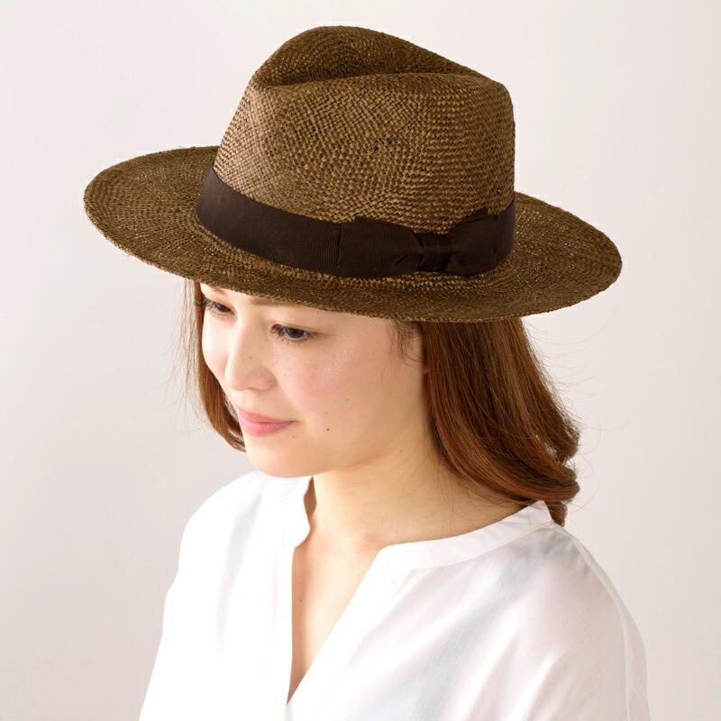 田中帽子店 uk-h060 Odette オデット ケンマ草 つば広中折れ帽子 (57.5cm)