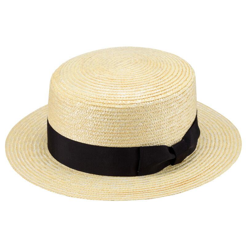 田中帽子店 uk-wh001 wa‐sou-和- GINO ジーノ 麦わら 紳士用カンカン帽子 60cm ホワイト