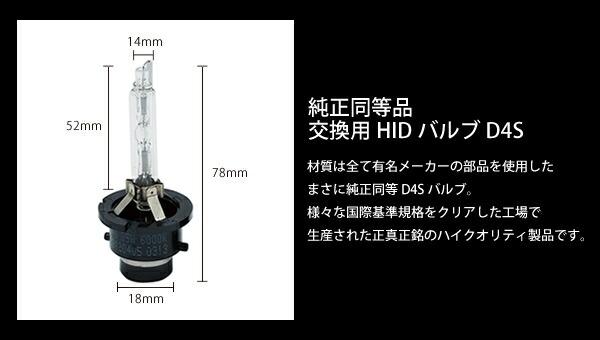 純正HID交換バルブ。 D4S 8000K