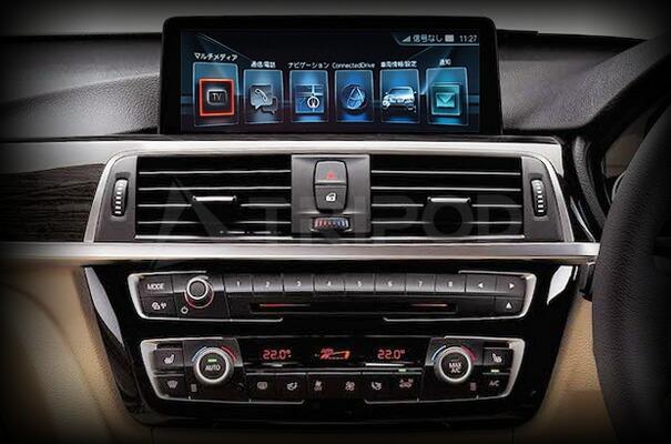 新型BMW             I-DRIVE5/6用 DVD/NAVI-FREE機能付 8.8/10.2タッチモニター AVインターフェース