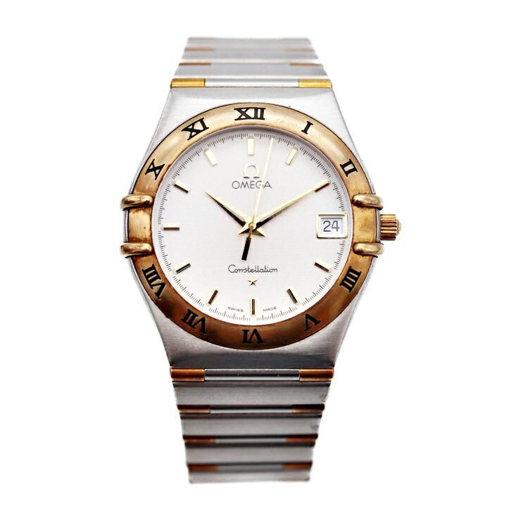 OMEGA オメガ コンステレーション メンズ クオーツ 腕時計 1212.30 SS YG コンビ ホワイト文字盤