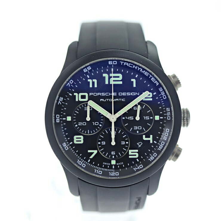 PORSCHE DESIGN ポルシェデザイン メンズ 腕時計 クロノグラフ オートマチック P6612 黒 ラバー チタン