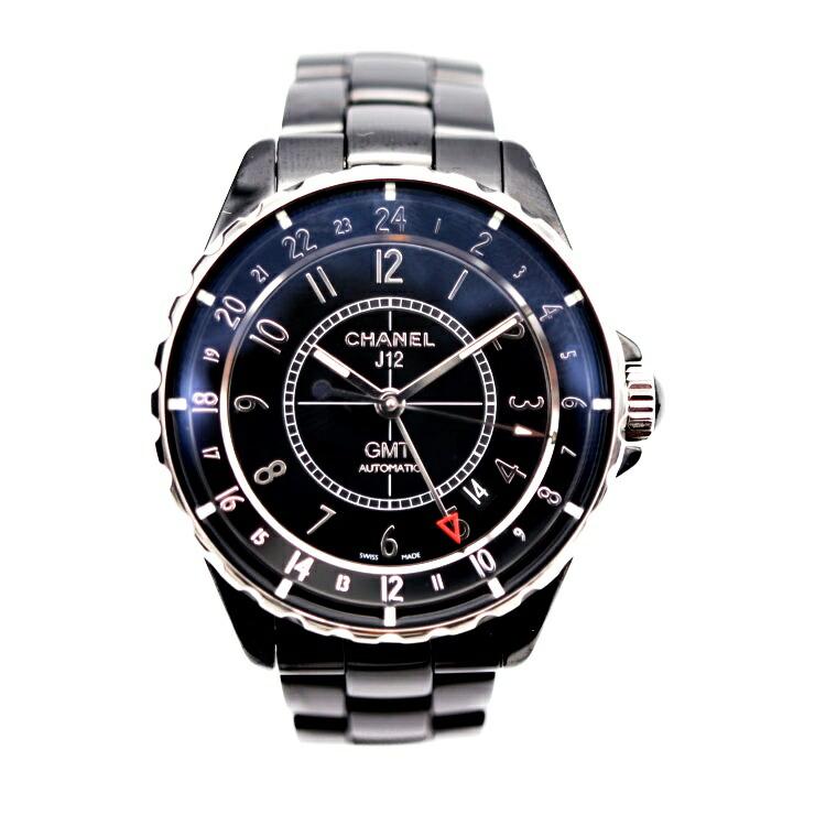 CHANEL シャネル J12 GMT H3102 ブラック文字盤 オートマ メンズ 腕時計