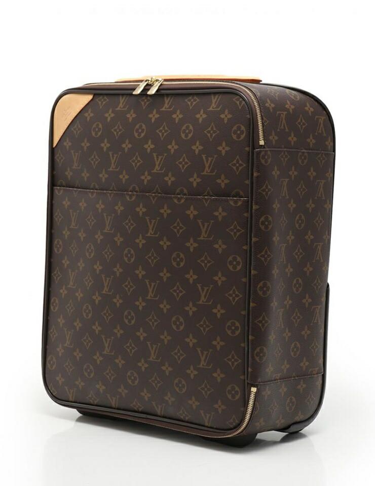 LOUIS VUITTON ルイヴィトン ぺガス45 モノグラム キャリーケース 旅行バッグ M23293 PVC レザー 茶