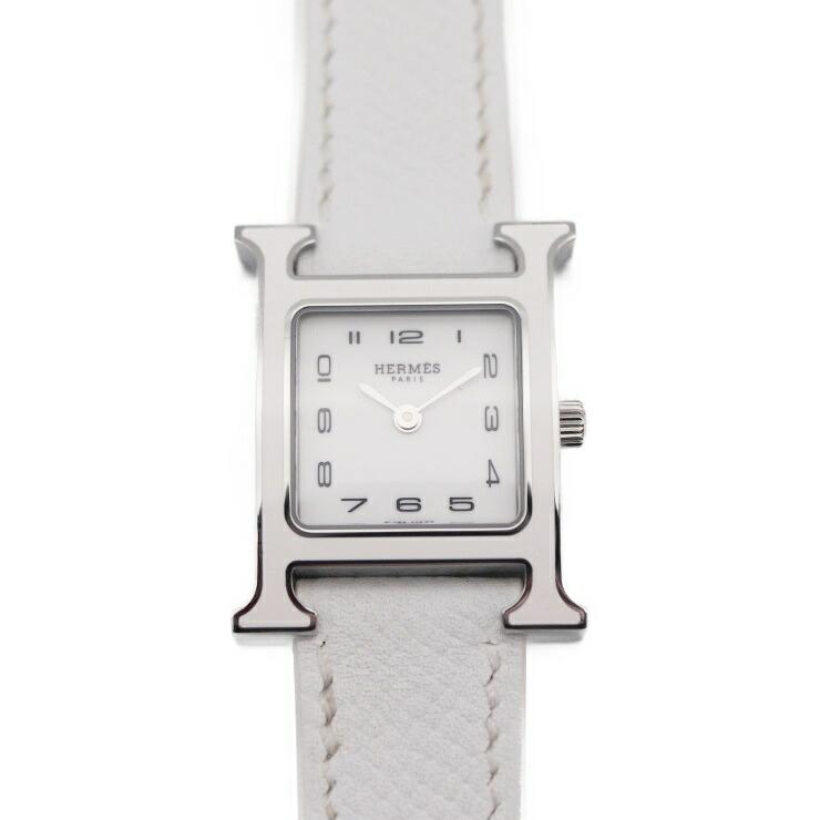 HERMES エルメス Hウォッチ HH1.220 レディース腕時計 クォーツ 白文字盤