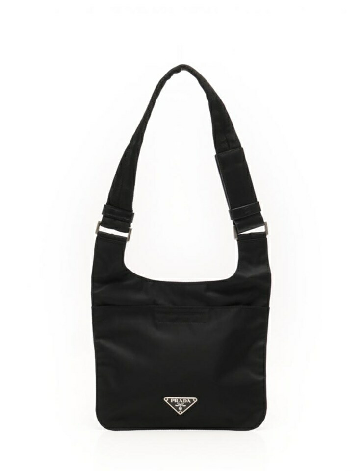 4ac750937005 Super beauty item PRADA PRADA Shoulder Bag Nylon black unisex dual use  possible  authentic warranty