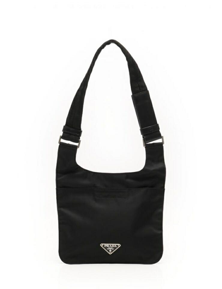4ac750937005 Super beauty item PRADA PRADA Shoulder Bag Nylon black unisex dual use  possible  authentic warranty