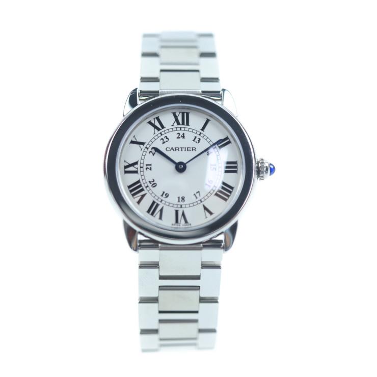 Cartier カルティエ ロンドソロ W6701004 レディース 腕時計 クォーツ SS 白文字盤