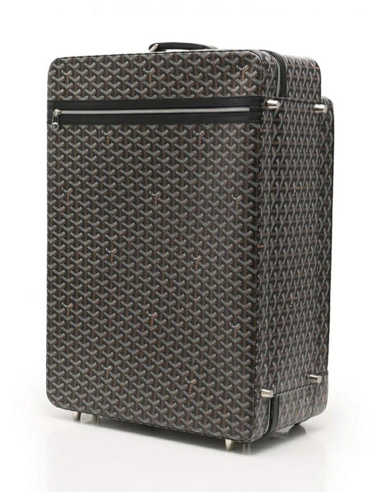 GOYARD ゴヤール トロレ キャリーケース キャリーバッグ 旅行鞄 PVC レザー 黒 茶 白 男女兼用可