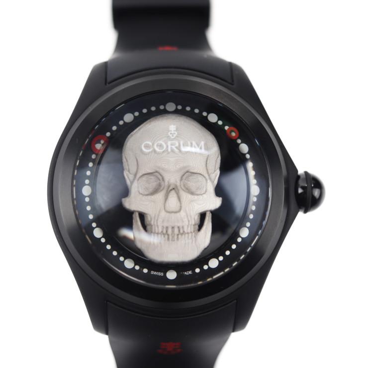 CORUM コルム 390.101.95/0371 SK01 腕時計 チタン ラバー ブラック ビッグバブル マジカル52 3Dスカル 世界限定188本