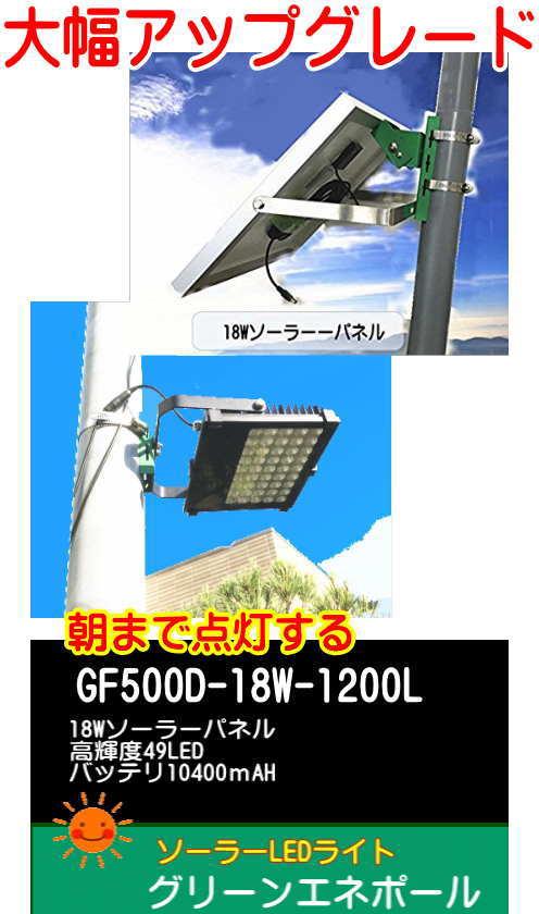 ソーラーLEDライト  外灯 駐車場灯 誘導灯