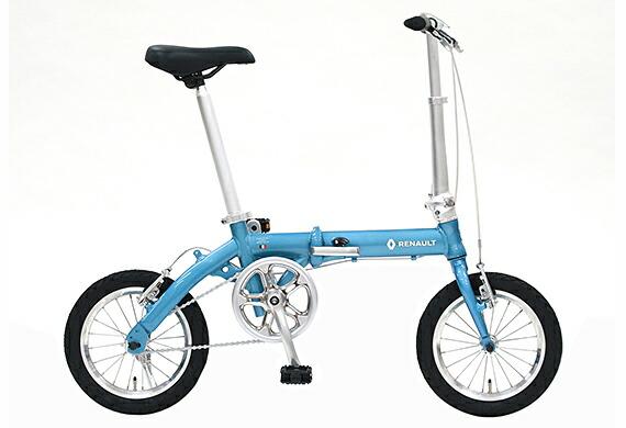 2018年モデル自転車 ルノー RENAULT 自転車 折りたたみ自転車 ラグーンブルー14インチ 軽量 ギアなし 折りたたみ自転車 ルノー LIGHT8 AL-FDB140 ライトエイト アルミニウム