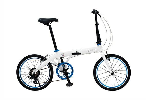 2018年モデル 折りたたみ自転車 ルノー RENAULT 自転車 ホワイト 白 20インチ 自転車 軽量 7段ギア ルノー 折りたたみ自転車 LIGHT10 ライト10 アルミニウム AL-FDB207