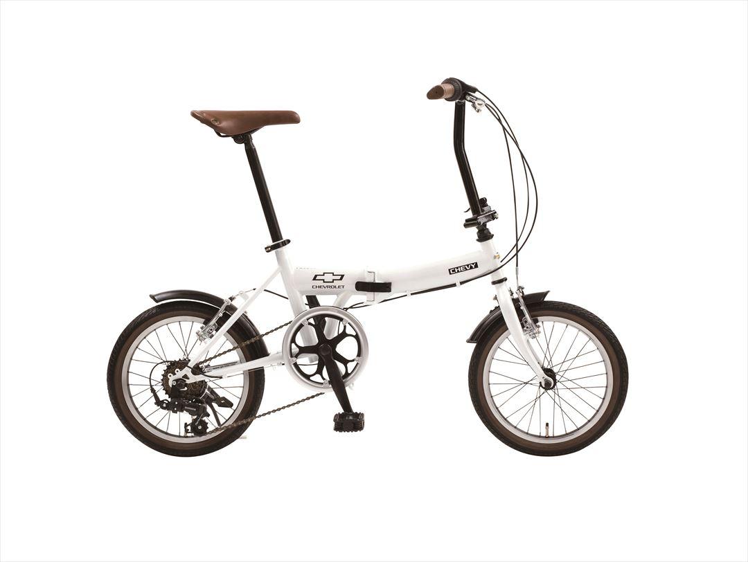 【最大21倍!エントリで! 楽天スーパーSALE】2018年モデル 送料無料 シボレー 折りたたみ自転車 16インチ 折りたたみ自転車 外装6段変速ギア CHEVY Classic CHEVY FDB166 ホワイト 白