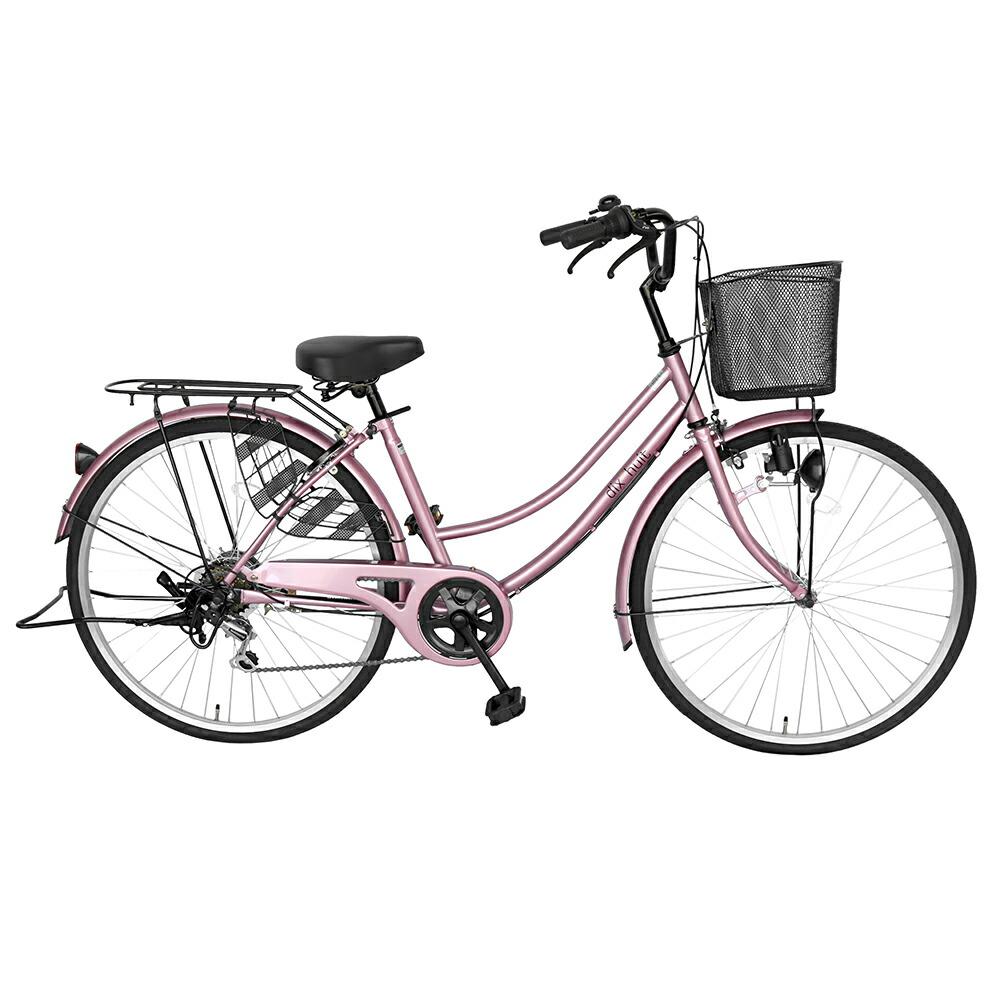 自転車 ママチャリ 軽快車 26インチ 外装6段ギア サントラスト SUNTRUST 自転車 ピンク/桃色 かわいいママチャリ 自転車 dixhuit ディズウィット ギア付きで使いやすいママチャリ 自転車