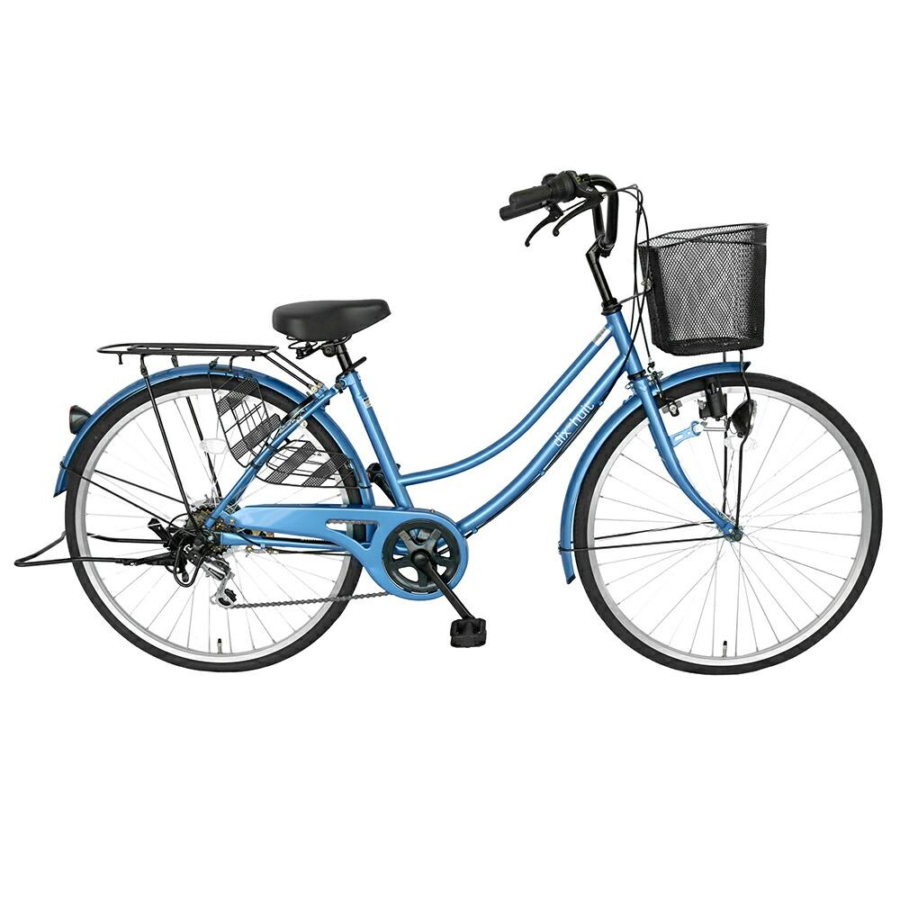 自転車 ママチャリ 軽快車 26インチ・外装6段ギア サントラスト SUNTRUST 自転車 ブルー/青 かわいいママチャリ/自転車 dixhuit ディズウィット ギア付きで使いやすいママチャリ 自転車 です。