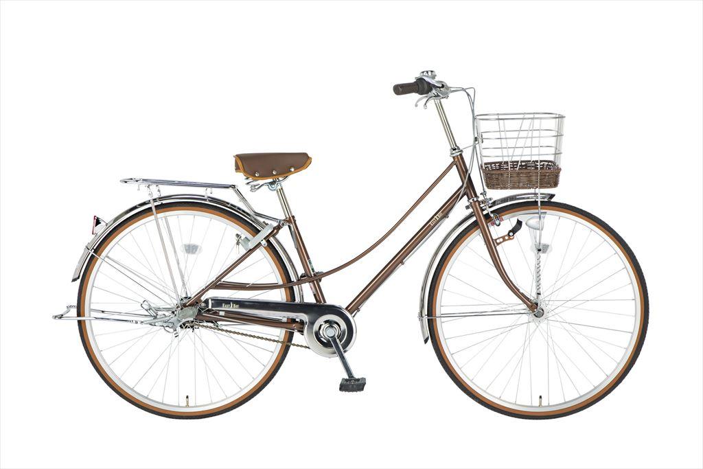 イーストボーイ デラックス 自転車 27インチ シティサイクル 自転車 女子高生 女子中学生、女子小学生の通学に最適 2018年モデル ママチャリ シティ車 内装3段ギア ローラーブレーキ LEDオートライト EASTBOY BAA EB273DX ブラウン