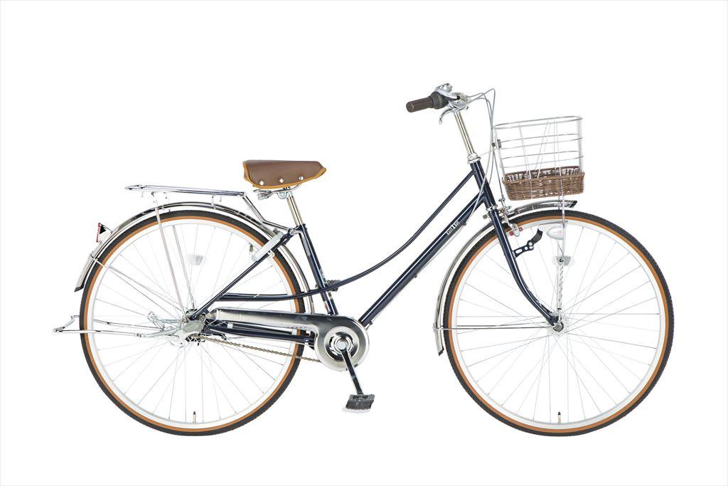 イーストボーイ デラックス 自転車 27インチ シティサイクル 自転車 女子高生 女子中学生、女子小学生の通学に最適 2018年モデル ママチャリ シティ車 内装3段ギア ローラーブレーキ LEDオートライト EASTBOY BAA EB273DX ネイビー