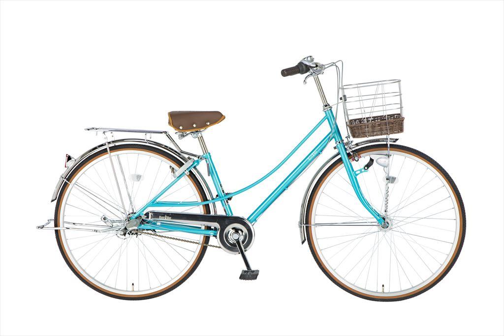 イーストボーイ デラックス 自転車 27インチ シティサイクル 自転車 女子高生 女子中学生、女子小学生の通学に最適 2018年モデル ママチャリ シティ車 内装3段ギア ローラーブレーキ LEDオートライト EASTBOY BAA EB273DX オーシャンブルー
