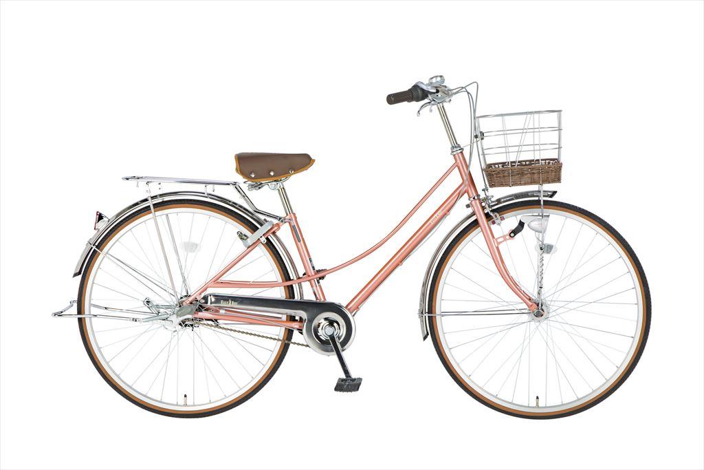 イーストボーイ デラックス 自転車 27インチ シティサイクル 自転車 女子高生 女子中学生、女子小学生の通学に最適 2018年モデル ママチャリ シティ車 内装3段ギア ローラーブレーキ LEDオートライト EASTBOY BAA EB273DX ピンクゴールド