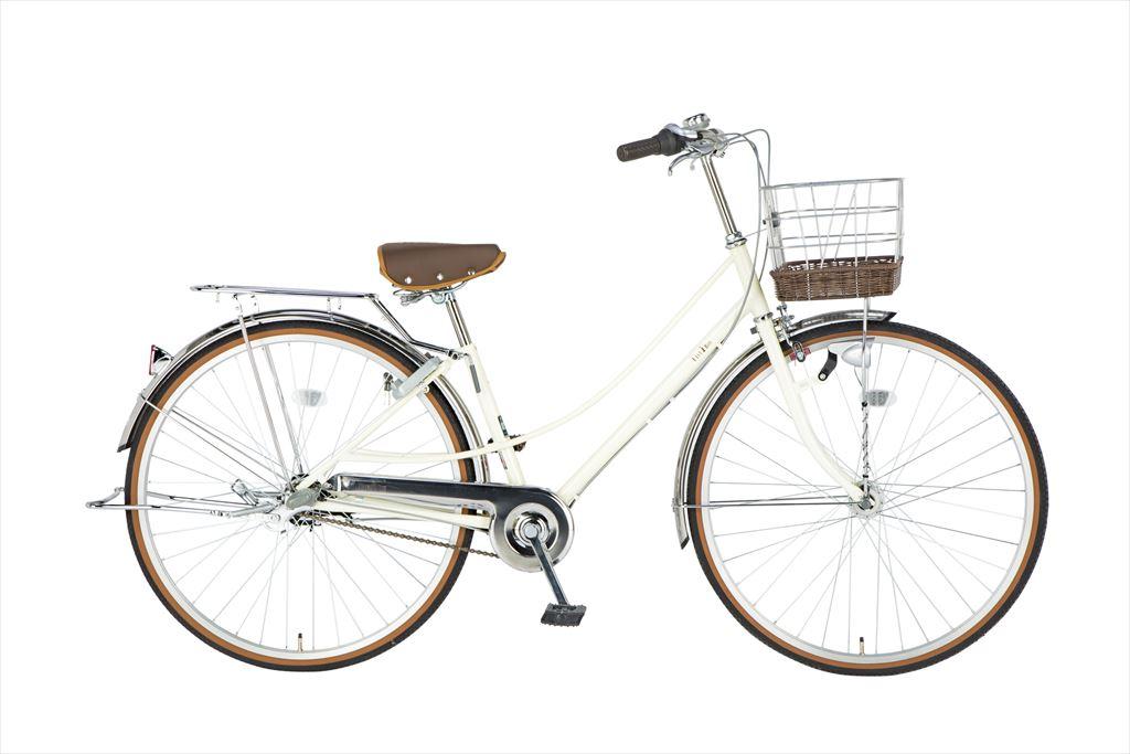 イーストボーイ デラックス 自転車 27インチ シティサイクル 自転車 女子高生 女子中学生、女子小学生の通学に最適 2018年モデル ママチャリ シティ車 内装3段ギア ローラーブレーキ LEDオートライト EASTBOY BAA EB273DX ホワイト