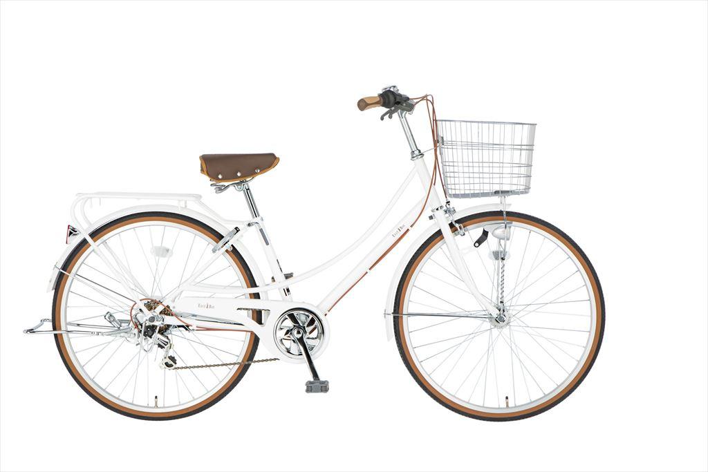 イーストボーイ カジュアルファミリー 自転車 26インチ シティサイクル 自転車 女子高生 女子中学生、女子小学生の通学に最適 2018年モデル ママチャリ シティ車 6段ギア ローラーブレーキ LEDオートライト EASTBOY BAA EB266CF ホワイト