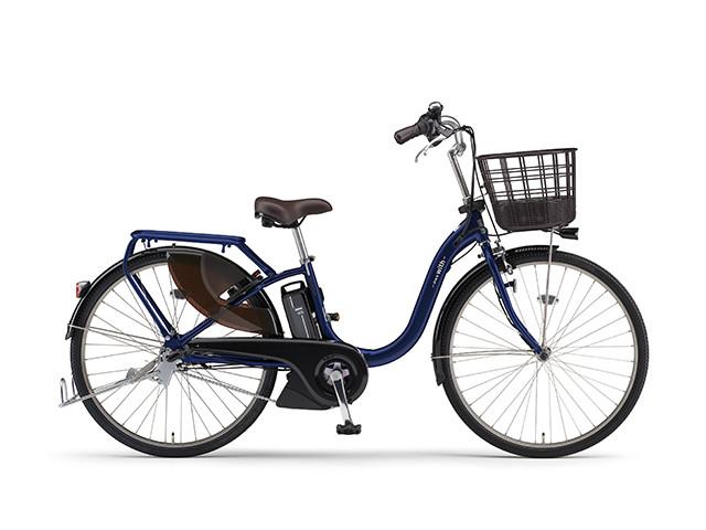 電動自転車 ヤマハ YAMAHA PAS With パス 24インチ 電動アシスト自転車 格安 激安 電動ママチャリ 2018年モデル 軽量 X0U501-010B ダークメタリックブルー ネイビー ブルー