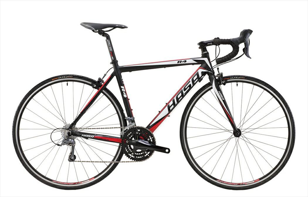 ロードバイク HASA R4 Claris ブラック×レッド フレームサイズ 500mm ロードバイク 自転車 HASA R4 ROAD-BIKE SHIMANO Claris ロードバイク 軽量 700C 外装23段ギア HASA R4 Claris シマノ