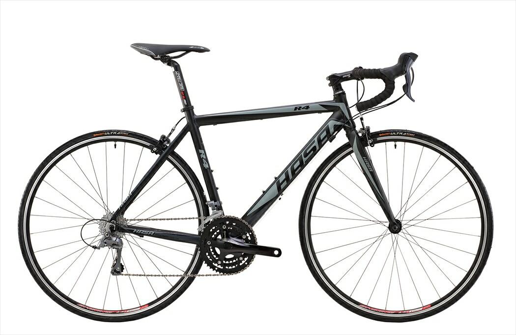 ロードバイク HASA R4 Claris ブラック×グレー フレームサイズ 460mm ロードバイク 自転車 HASA R4 ROAD-BIKE SHIMANO Claris ロードバイク 軽量 700C 外装23段ギア HASA R4 Claris シマノ