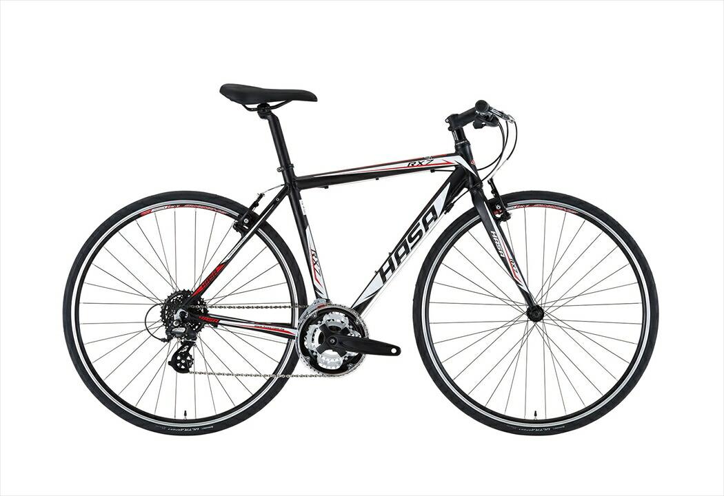 クロスバイク HASA RX7 ブラック×レッド フレームサイズ 460mm クロスバイク 自転車 HASA RX-7 CROSS SHIMANO ALTUS クロスバイク 外装24段ギア 700c