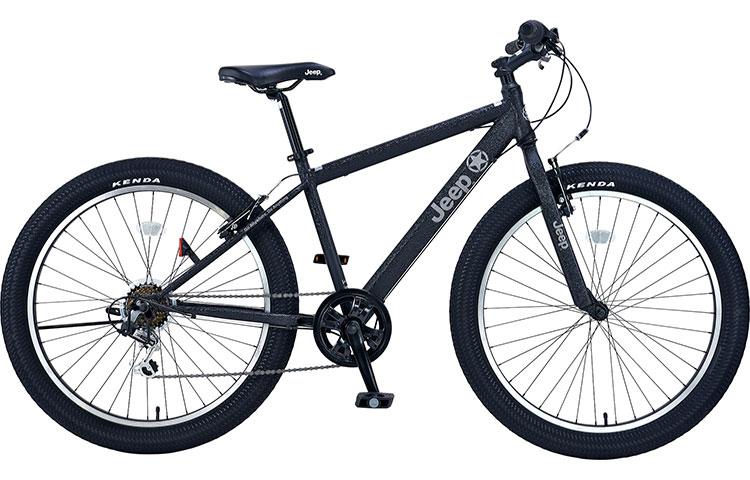 ジープ 自転車 ファットバイク JEEP 26インチ 外装7段変速ギア ディスクブレーキ 2018年モデル マウンテンバイク 18'JE-266FT 26×3.0Tire 6S FAT-BIKE セミファットタイヤ ブラック 黒