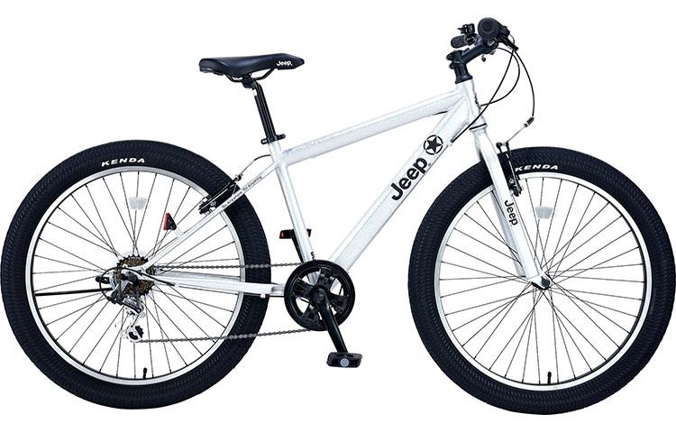 ジープ 自転車 ファットバイク JEEP 26インチ 外装7段変速ギア ディスクブレーキ 2018年モデル マウンテンバイク 18'JE-266FT 26×3.0Tire 6S FAT-BIKE セミファットタイヤ シルバー