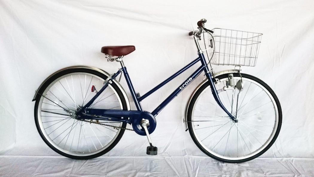 自転車 シティサイクル SUNTRUST サントラスト シティサイクル ネイビー/紺 通勤 通学 買い物に最適 26インチ 自転車 シティサイクル 260白シティ ママチャリ 激安 格安