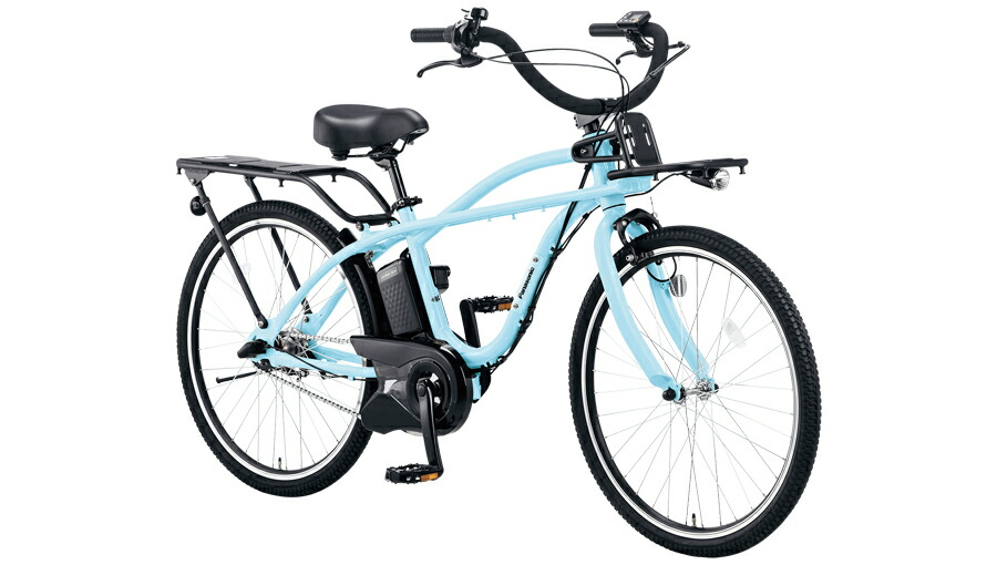 電動自転車 パナソニック Panasonic BP02 KE-ELZC63 B 26インチ ショアブルー 青 電動アシスト自転車 ビームス BEAMS 格安 激安 ビーチクルーザー風 電動自転車 パナソニック 電動アシスト自転車 BAA おしゃれ おしゃれ