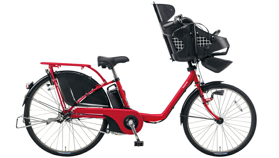 電動自転車 パナソニック Panasonic ギュットDX KE-ELMD633 B2 前輪22インチ 後輪26インチ ロイヤルレッド 赤 電動アシスト自転車 格安 激安 電動自転車 電動アシスト自転車 電動ママチャリ BAA 軽量 子供乗せ設置可 3人乗り可