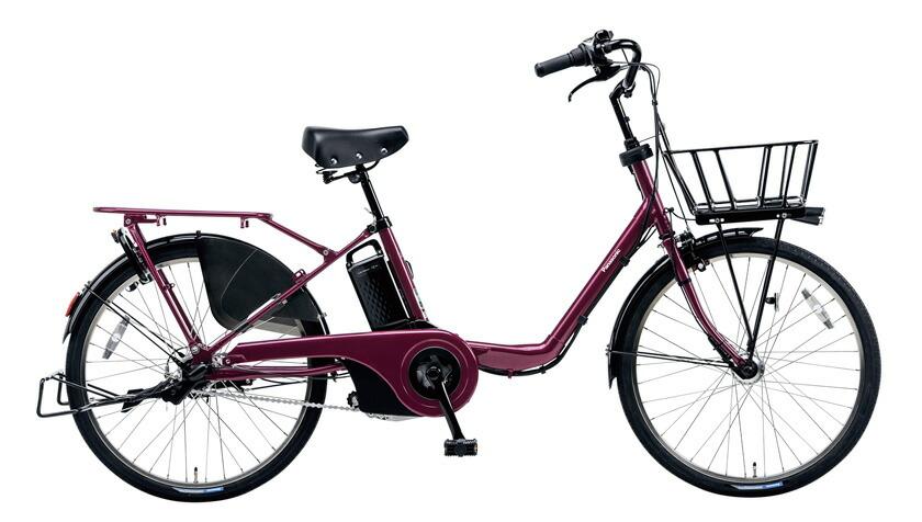 電動自転車 パナソニック Panasonic ギュットステージ KE-ELMU23 R 22インチ メタリックローズ パープル 紫 電動アシスト自転車 格安 激安 電動自転車 電動アシスト自転車 電動ママチャリ BAA 軽量 子供乗せ設置可 3人乗り可
