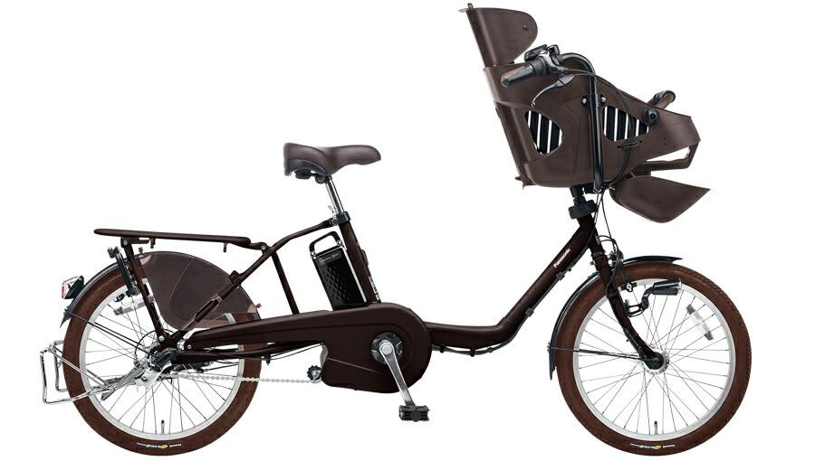 電動自転車 パナソニック Panasonic ギュットミニEX KE-ELM03 R 20インチ マットダークブラウン 茶色 電動アシスト自転車 格安 激安 電動自転車 電動アシスト自転車 電動ママチャリ BAA 軽量 子供乗せ設置可 3人乗り可