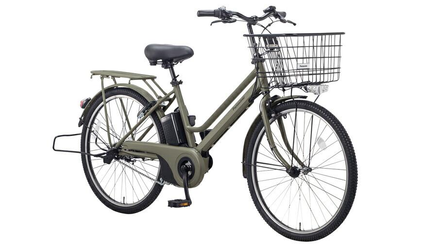 電動自転車 パナソニック Panasonic ティモ S KE-ELST632 B 26インチ マットオリーブ 電動アシスト自転車 格安 激安 電動自転車 電動アシスト自転車 電動ママチャリ BAA 通学 大きなかご