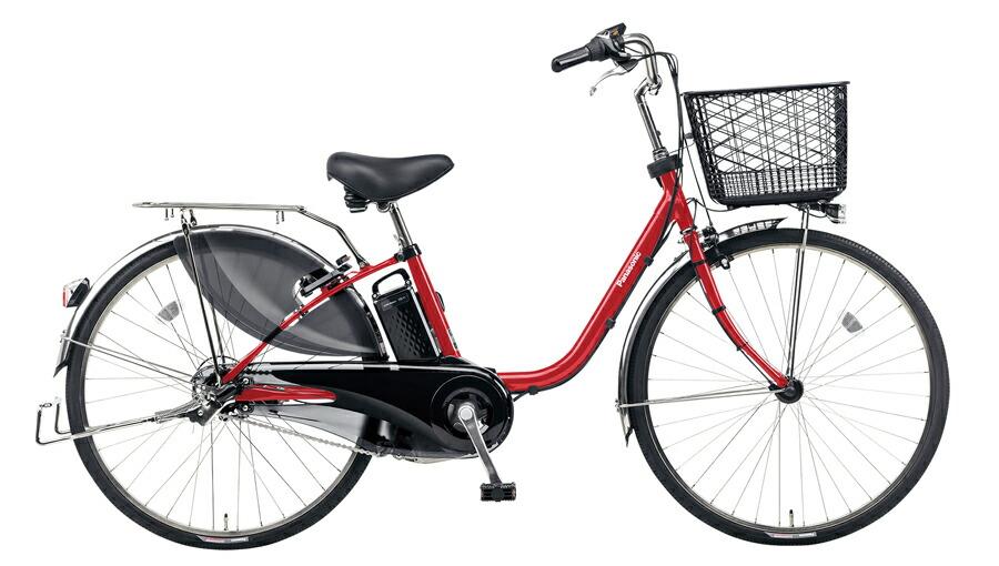電動自転車 パナソニック Panasonic ビビ DX KE-ELD633 R2 26インチ パールクリアレッド レッド 赤 電動アシスト自転車 格安 激安 電動自転車 電動ママチャリ 電動アシスト自転車 大きなカゴ BAA